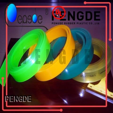 PENGDE screen printing squeegee rubber supplier for windown cleaning
