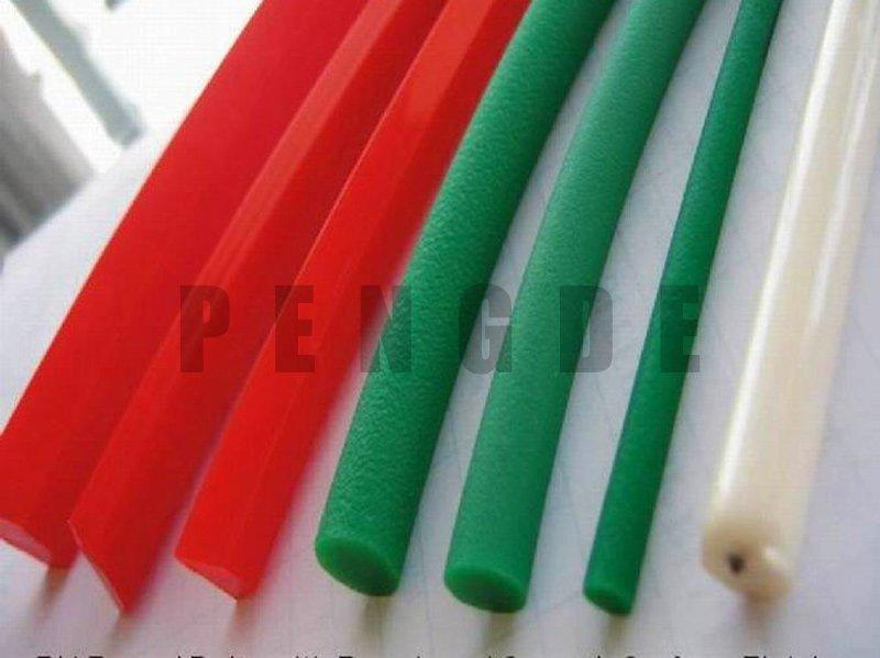 Thermoplastic Polyurethane Rough Round Green Drive Belt
