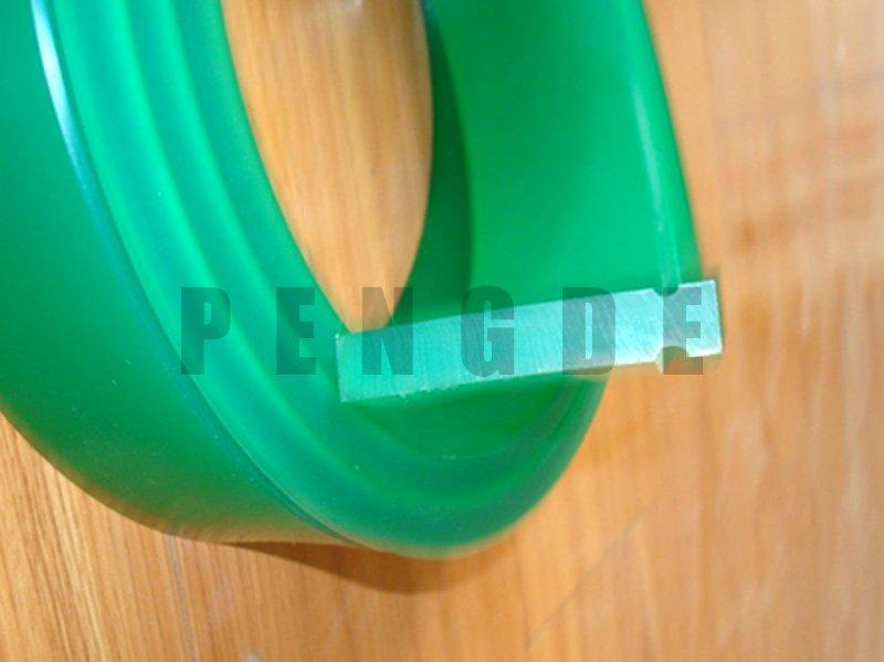 Round Edge PU Squeegee With Groove
