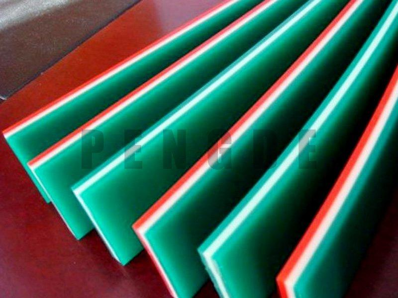 Different Hardness Sandwich Polyurethane Squeegee Scraper