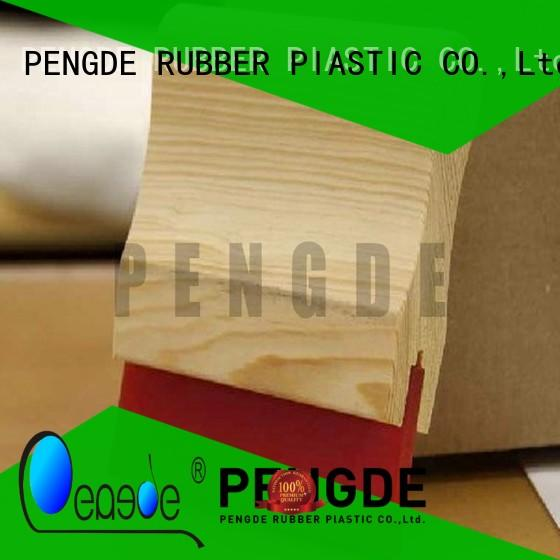 PENGDE oil resistan screen printing squeegee blades directly price